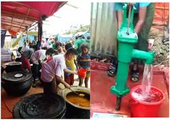 Food distribution & water pump