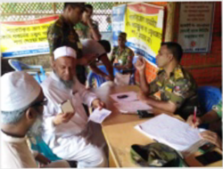 Food Distribution To Rogingya With Army