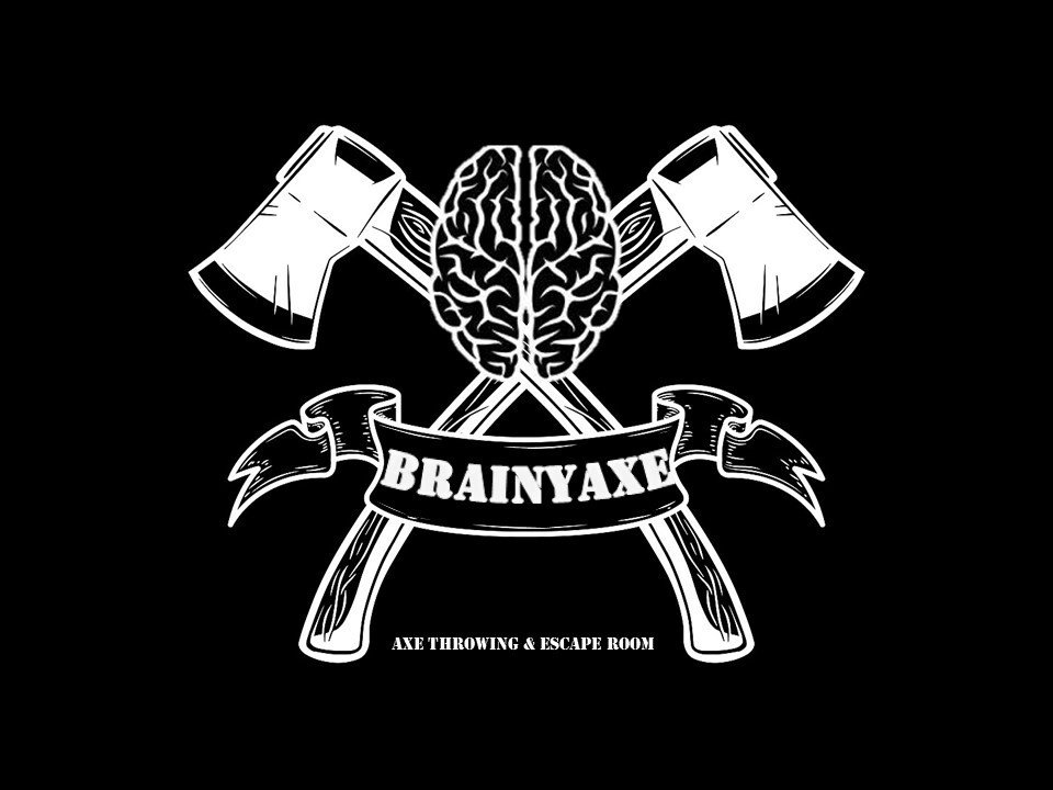 Crossed axes with brain