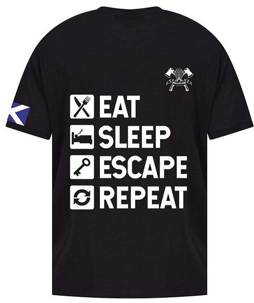 Eat, Sleep, Escape, Repeat T-Shirt