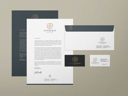St Pancras Hotels Group stationery suite