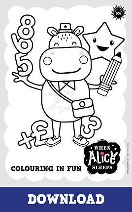 Frankie Colouring Sheet