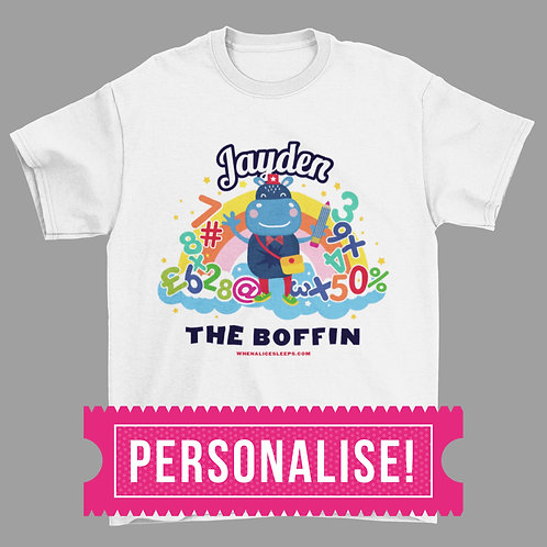 CUSTOM NAME Boffin Kids T-shirt