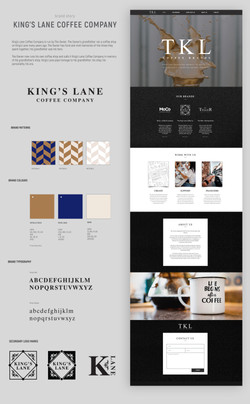 King's Lane Coffee Company brand guidelines