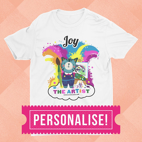 CUSTOM NAME Artist Kids T-shirt