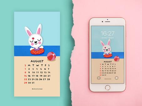 August Phone Wallpaper