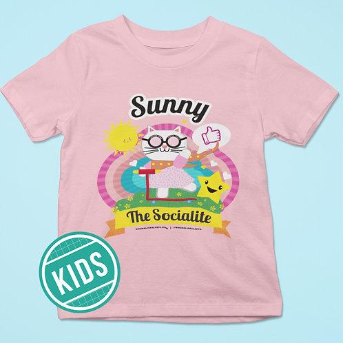When Alice Sleeps Sunny pink T-shirt