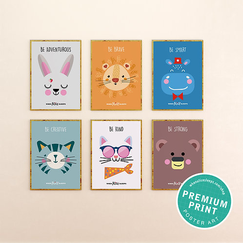 Poster Set of 6 Alice and Friends Art Prints