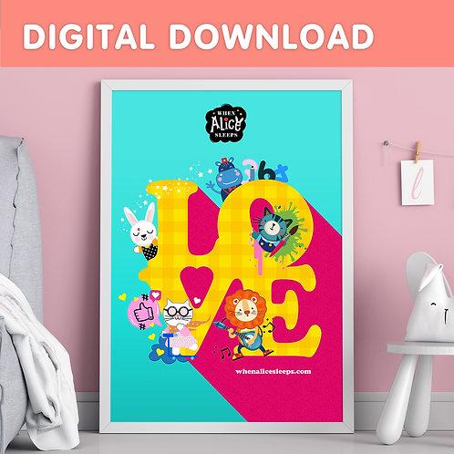 LOVE Digital Download Wall Art