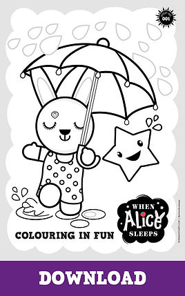 Alice Colouring Sheet