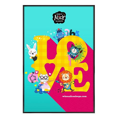 LOVE Kids Art Print
