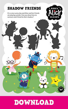 Shadow Friends Activity Sheet