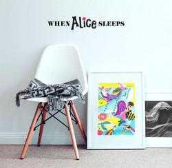 When Alice Sleeps kids art prints