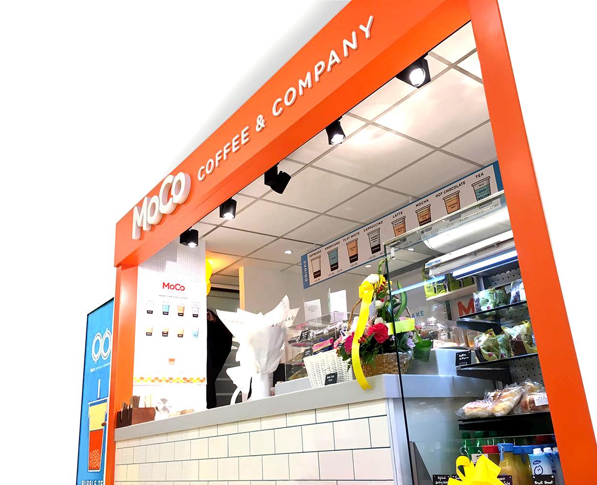 MoCo Coffee & Company kiosk design