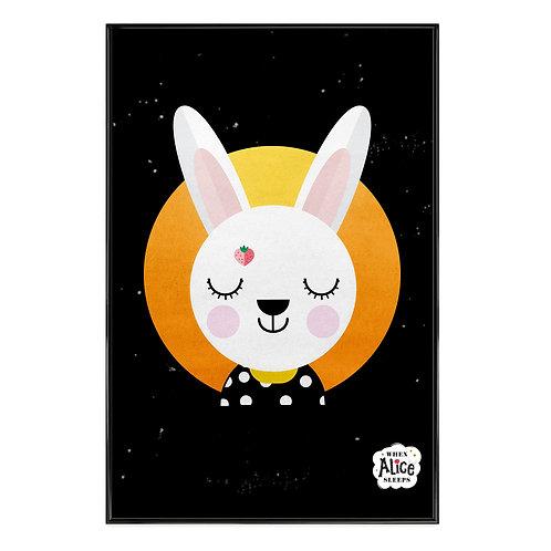 GOODNIGHT ALICE Kids Art Print