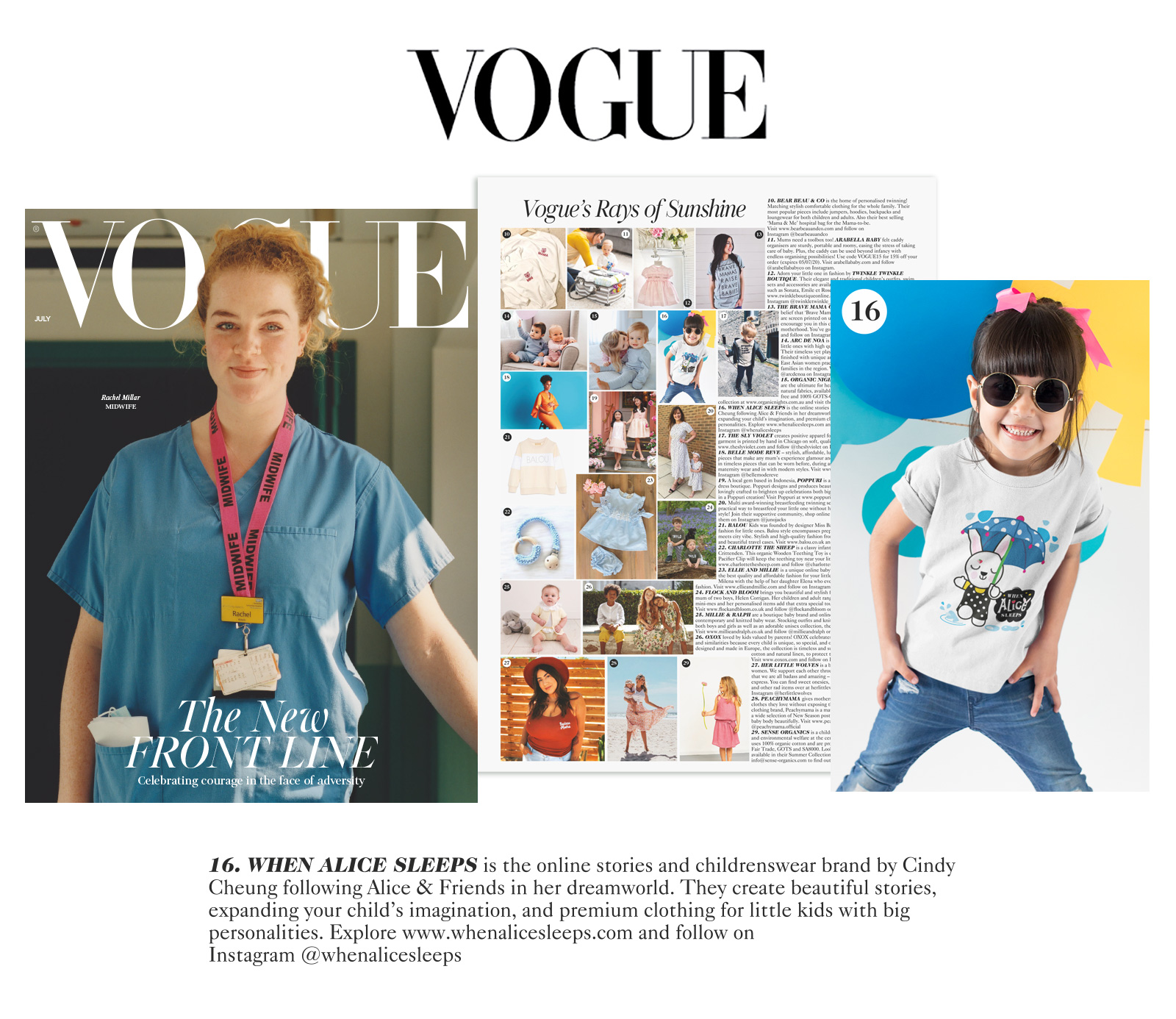 When Alice Sleeps as featured in Vogue UK