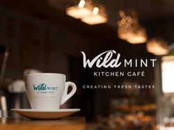 Wild Mint Kitchen Cafe branding
