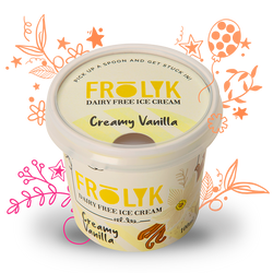 FROLYK Dairy-free Ice Cream packaging