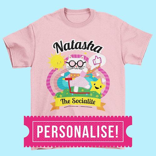 CUSTOM NAME Socialite kids T-shirt