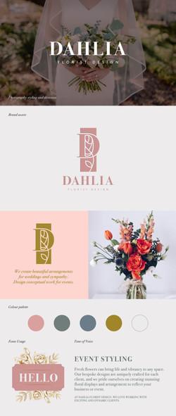 Dahlia Florist Design logo design and identity