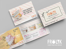 FROLYK ice cream branding