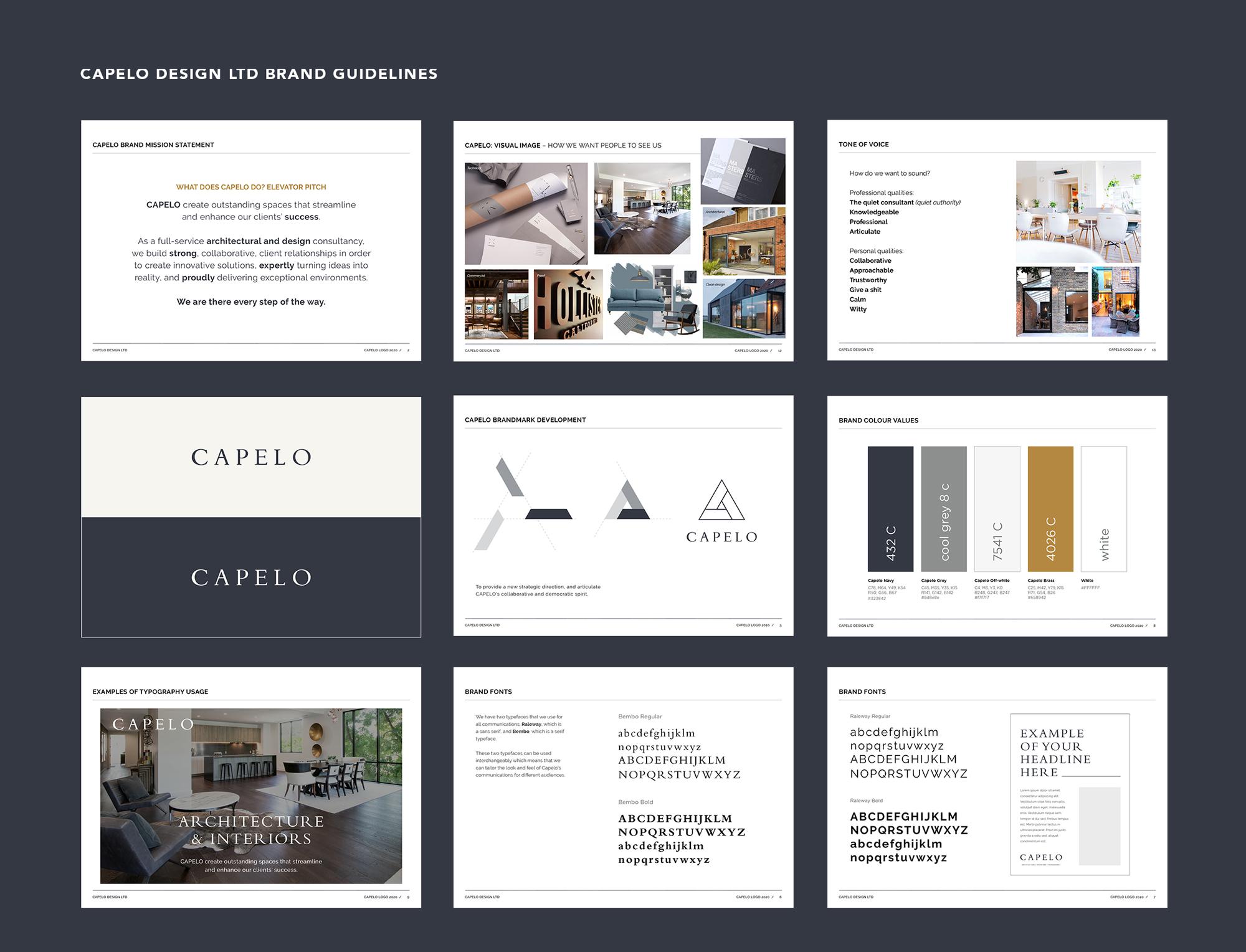 Capelo Design Ltd brand guidelines