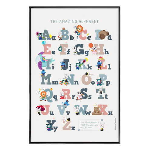 Amazing Alphabet Kids Art Print