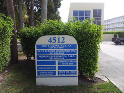 Marquee Sign in Front of Building