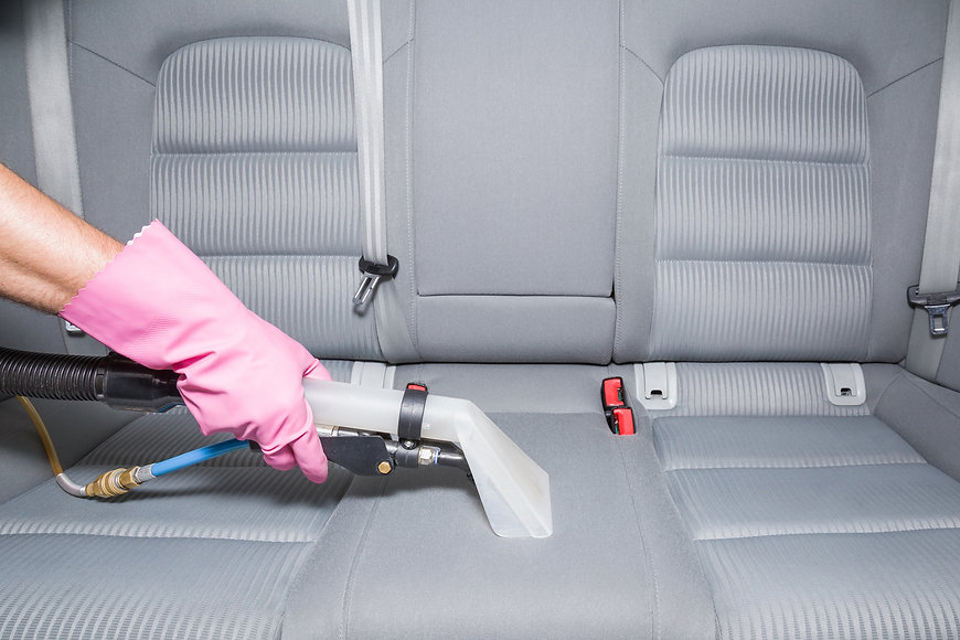 Car interior textile seats chemical clea