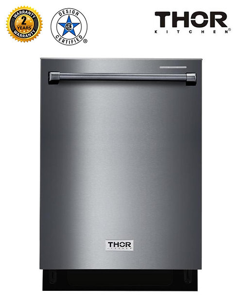 "Thor Kitchen 24"" Dishwasher in Black Stainless Steel"