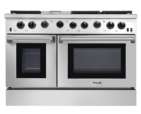 "Thor Kitchen 48"" Professional Gas Range, Stainless Steel LRG4807U"