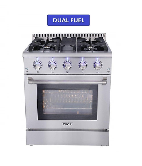 "THOR KITCHEN 30"" DUAL FUEL RANGE"