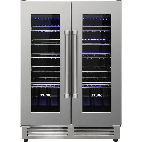 TWC2402 42 Bottle Dual Zone French Door Built-in Wine Cooler