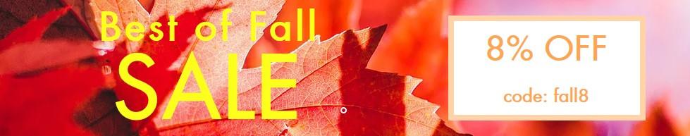 Best of fall SALE 10/20-10/31 code: fall8