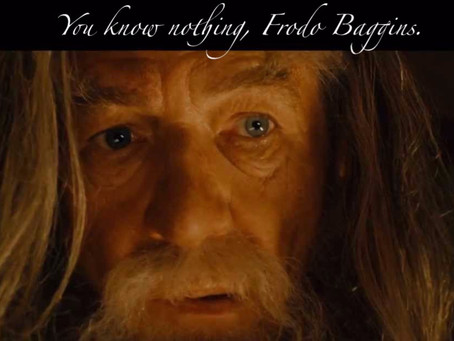 LOTR 3: You know nothing, Frodo Baggins.
