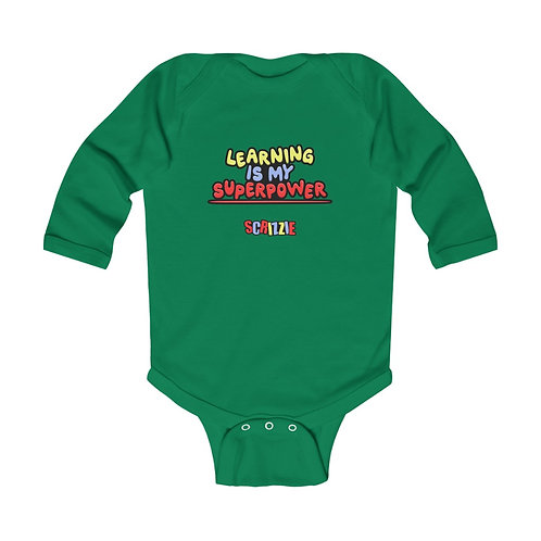 Learning is my Superpower - Infant Long Sleeve Bodysuit