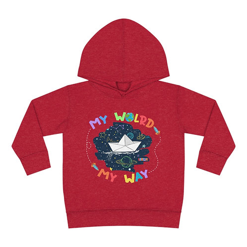 My World My Way - Toddler Pullover Fleece Hoodie
