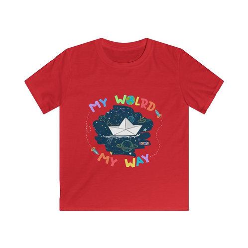 My World My Way - Kids Softstyle Tee