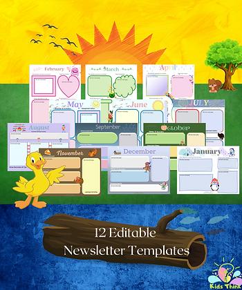 12 Editable Newsletter Templates
