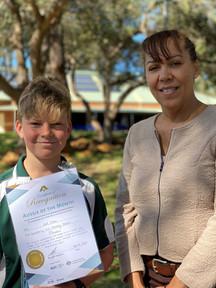 Jack received his award from WA 2019 Local Hero Prof Cheryl Kickett-Tucker at a special school visit