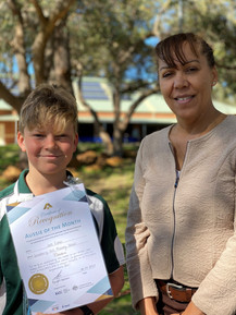 Jack received his award from WA 2019 Local Hero Prof Cheryl Kickett-Tucker at a special school visit