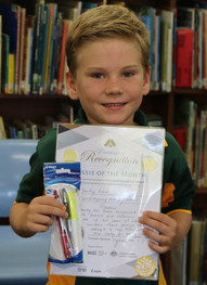 Recognised for his fairness and inclusion of all his peers at school.  Well done!