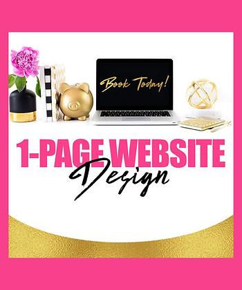 1-page Website Design