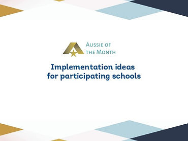 Aussie of the Month Implementation Ideas
