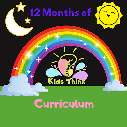 12 Months of Kids Think Lesson Plans