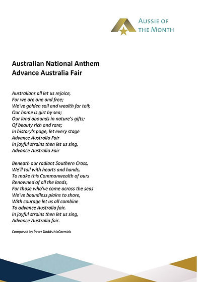 AOTM affirmation and anthem content REVI