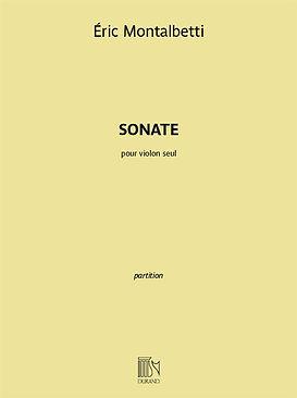 cover Sonate pour violon Eric Montalbett