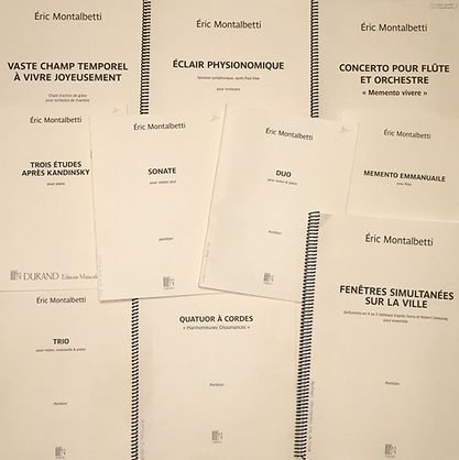 Partitions Eric Montalbetti éditions Dur