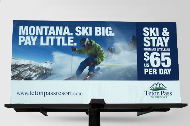 Teton Pass: billboard