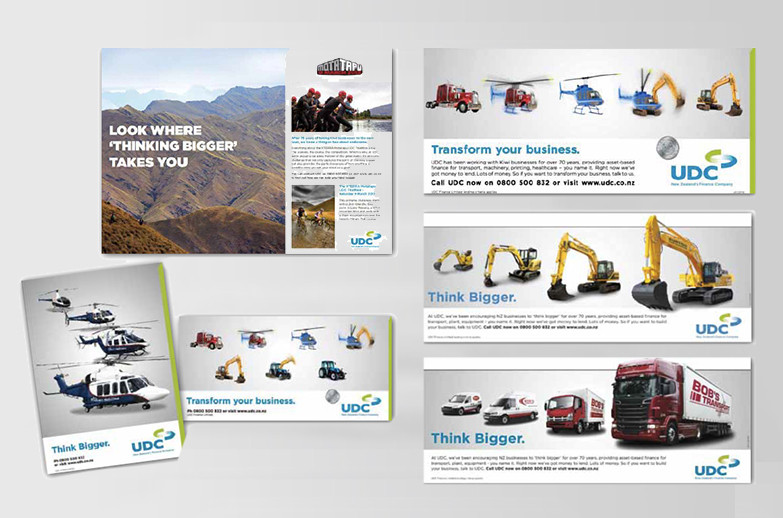 UDC Finance: think bigger / transformer campaign